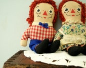 Vintage Raggedy Ann and Andy 1970s Dolls