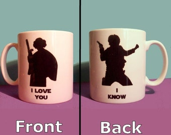 I Love You I Know Star Wars themed mug