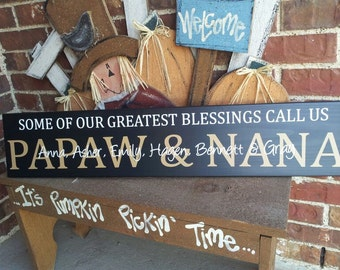 Some of my greatest blessings personalized grandparent sign