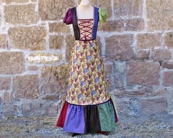 Fall Folklore Dress - Grape Harvest women's size Small