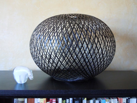Contemporary designer look black globe hanging lamp shade