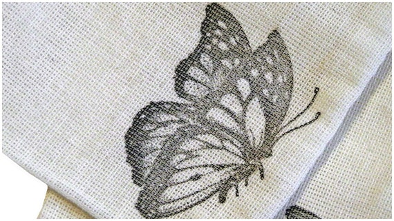 10 3x5 Resting Monarch Butterfly Unbleached Muslin bags/ pouches - Great for Party favors Herbs Soaps Jewelry WHOLESALE Packaging Supply