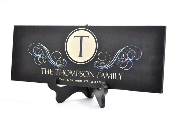 Wedding Sign Personalized Family Name Sign Established Plaque Painted Sign 7x20