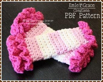Crochet Leg Warmer Pattern, 7 Sizes from Newborn to Adult, DOUBLE RUFFLE - pdf 708