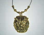 90% Off SALE - Golden Lion Necklace:  Hand-Made Jewelry By T.L.C.
