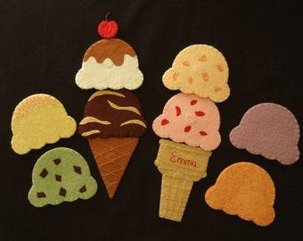 Sewing Pattern - Felt Ice Cream Cone Chore Chart - DIY Felt Tutorial