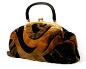 vintage UK 60s velvety classic beat generation pre-hippie gladstone type bowling doctor's carpet bag