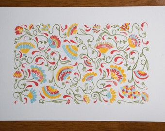 Un crisantemo del jardín - Gocco print