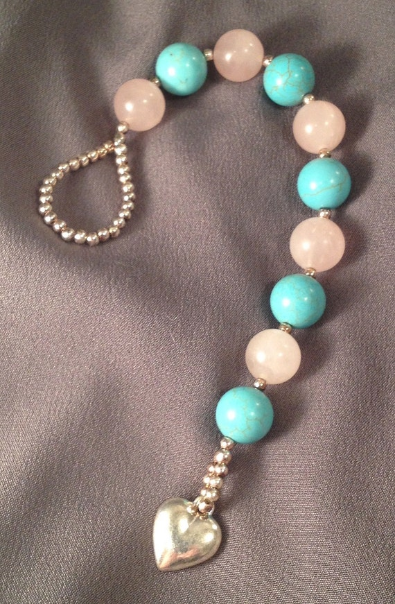 Turquoise and Rose Quartz Gratitude Meditation Beads