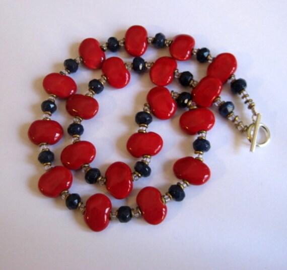 Kazuri Necklace, Jade Stone, Fair Trade Beads
