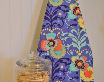 Designer Ironing Board Cover - Amy Butler Love Paradise Garden Periwinkle