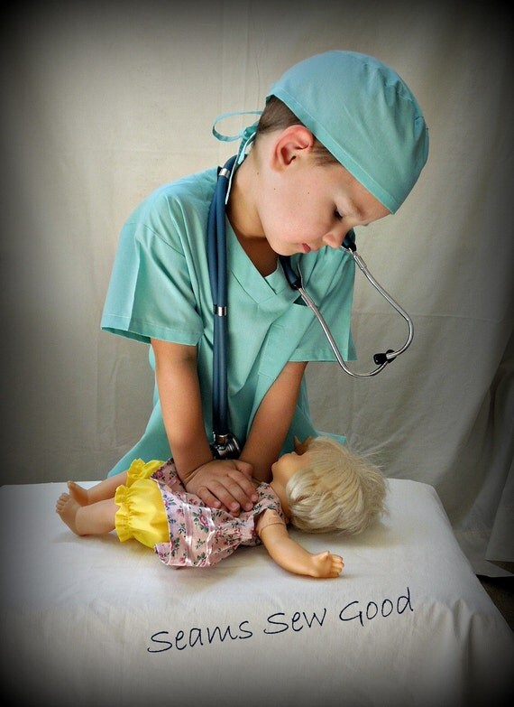 Doctor or Nurse (Scrubs) Costume for Toddler/Child