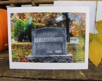 Halloween Frankenstein greeting card
