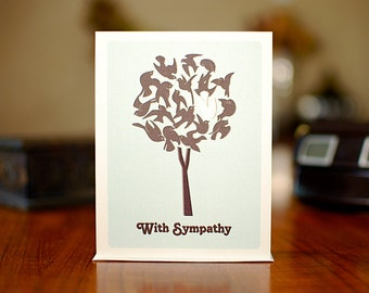 Tree of Life - Bird-Filled Tree Sympathy Card on 100% Recycled Paper