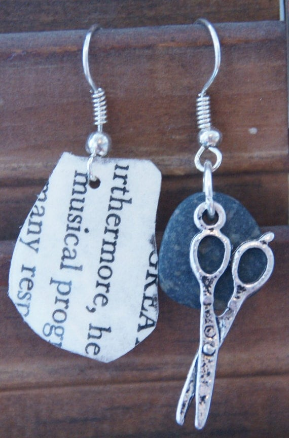 Rock Paper Scissors Earrings
