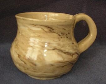 Agateware wheel thrown Mug