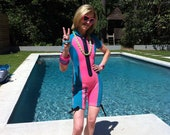 SUPER SUMMER SALE Blue and Pink Wetsuit