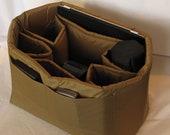 PreOrder DSLR Camera Bag Insert in Tan - Lens Sleeves  - Custom Sizes