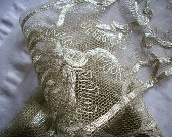 Amazing antique silver metal lace, more
