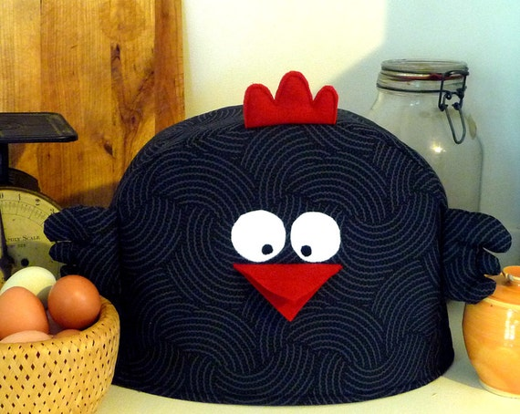 Chicken Toaster Cover - black