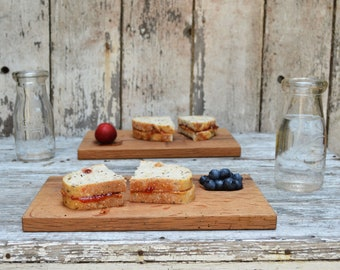 Sandwich Plates, Wood Plate, Cutting Board, Personalized Cutting Board, Cheese Board, Reclaimed Wood, Bread Board, Fathers Day, Peg and Awl
