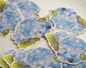Blue Hydrangea Prints - Place cards, wishing tree, wedding decoration, baby shower, escort cards