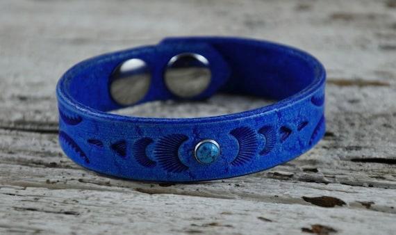 Native Sky Blue Leather Bracelet SALE