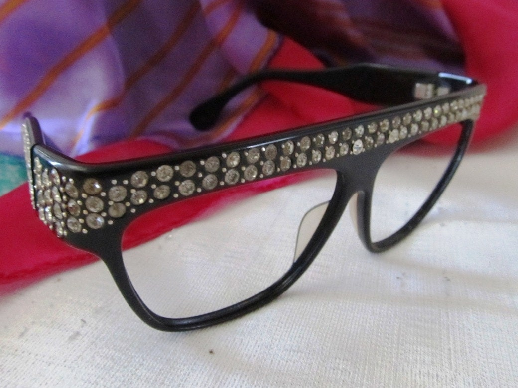 Eyeglasses Frames With Bling : Hollywood Dazzle Rhinestone Covered Eyeglasses by ...