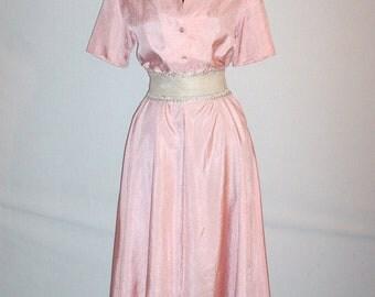 Vintage 1950s Shawl Collar Dress