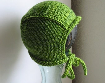 Made to order Hand Knit Pilot Cap for Girls or Boys, Newborn - Child Sizes Available