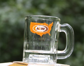 Child's A&W Root Beer Mug Carhop Style 1970 Mini Mug