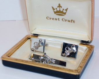 SALE Vintage Crest Craft Nuts & Bolts Cuff Links, Accessories, Men