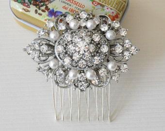 BRIDAL COMB,wedding comb,wedding hair comb , crystal hairpiece,bridal head piece with SWAROVSKI Crystals