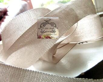 Rayon Seam Binding Ribbon Mushroom Beige