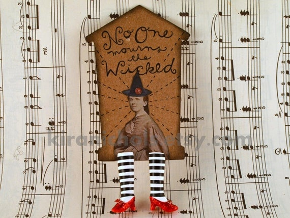 The ORIGINAL Wicked Witch Bookmark with Ruby Slippers - Wicked Awesome Series 31/100 - Witch Legs Bookmark