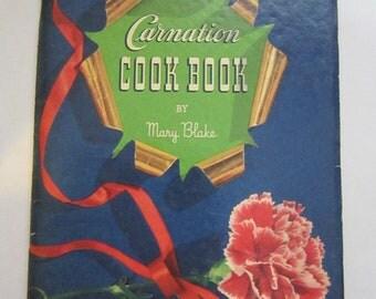 antique cookbook - CARNATION Cook Book - circa 1939