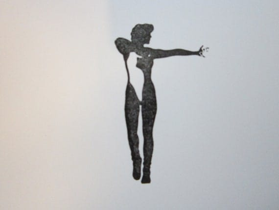 rubber stamp  - posing NUDE - gently used