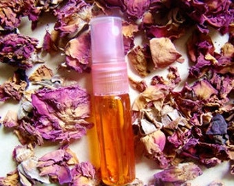 100% Real - Pure Damascus Rose - Natural Spray Perfume - Pink Capped Glass Vial