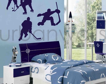 Vinyl Wall Sticker Decal Art - Hockey
