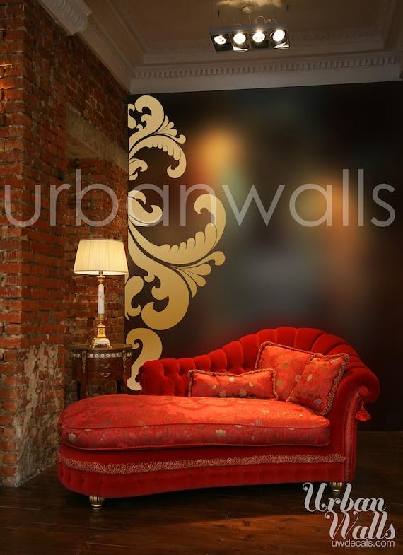 Vinyl Wall Sticker Decal Art - Side Swirl