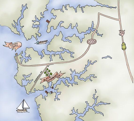 Custom Illustrated Wedding Map,  DIY Printable Wedding Map, MAP, Wedding invitation Map
