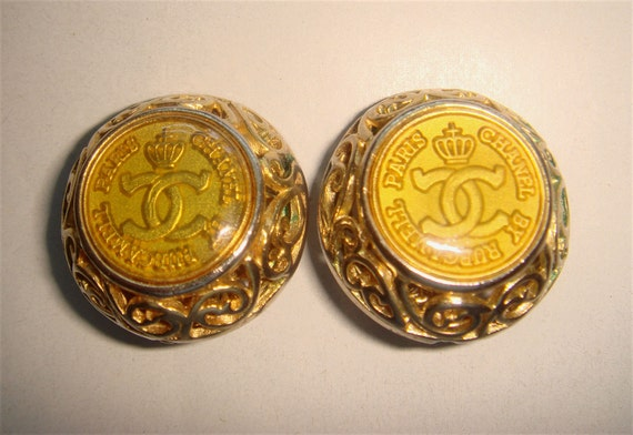 Vintage Chanel by Rubcamell Paris Filigree Clip On Earrings