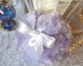 La Petite Lilac Powder Puff - soft lavender purple - miniature bath pouf - gift box option - by Bonny Bubbles
