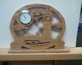 Oak Lighthouse Mini Clock - American Hardwood