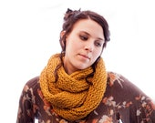 Mustard Infinity Scarf Warm and Soft (Made to Order)