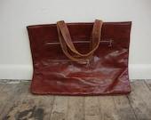 Vintage Brown Tote Bag/Computer Bag