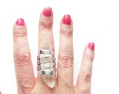 Natural Clear Quartz Crystal Ring