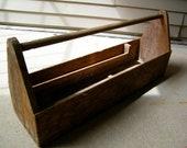 Carpenters Wooden Tool Box / Carrier / Organizer