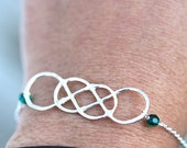 ORIGINAL Double Infinity Bracelet with birthstones