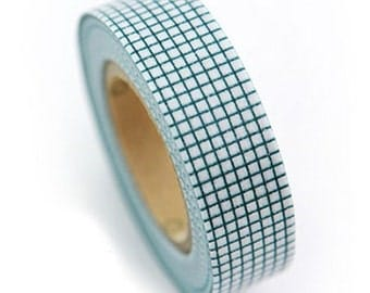 Green Grid Check Adhesive Masking Tape (0.6in)